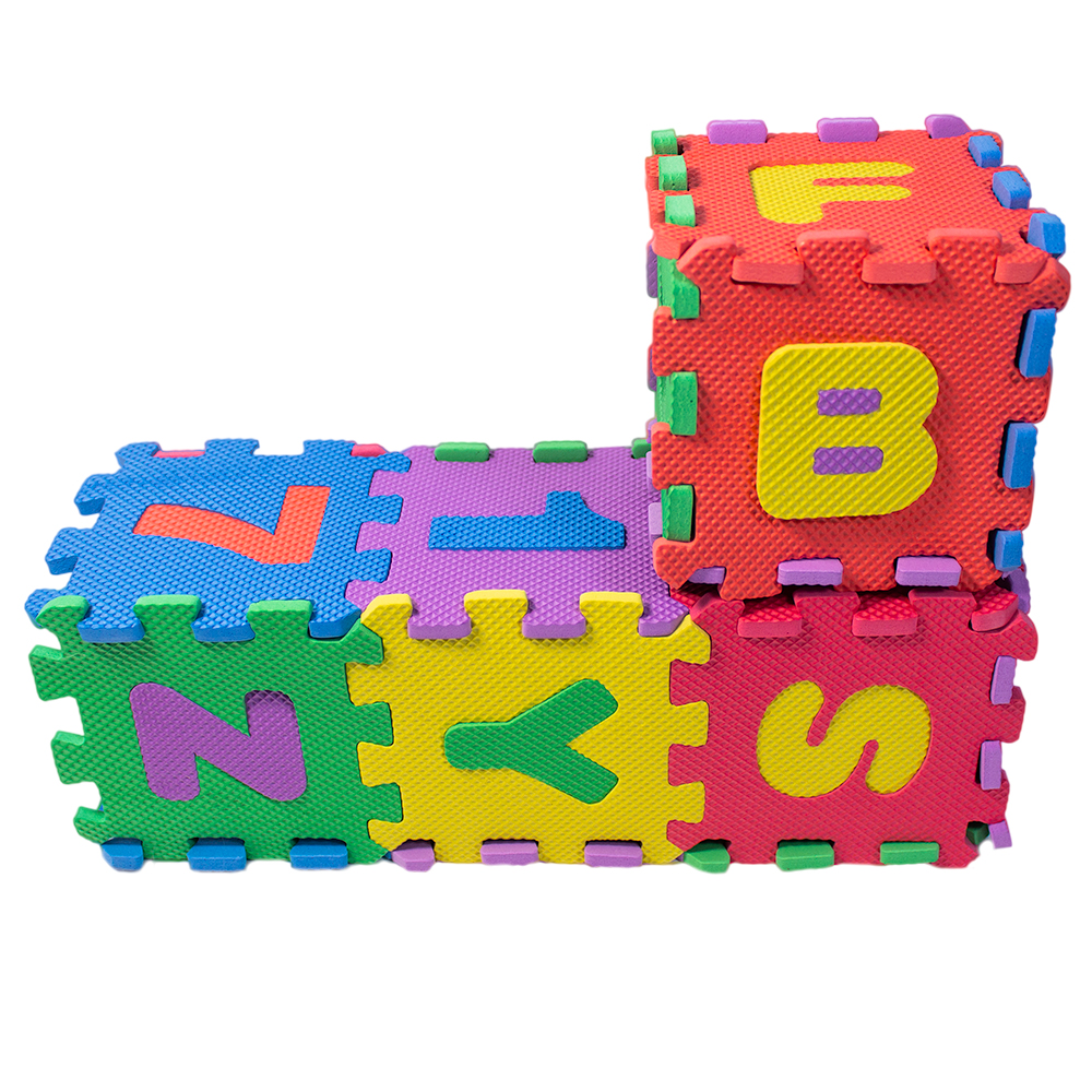 Alphabet and Numbers Foam Puzzle Play Mat,NON-TOXIC EVA 36 Piece Multi-Color /&