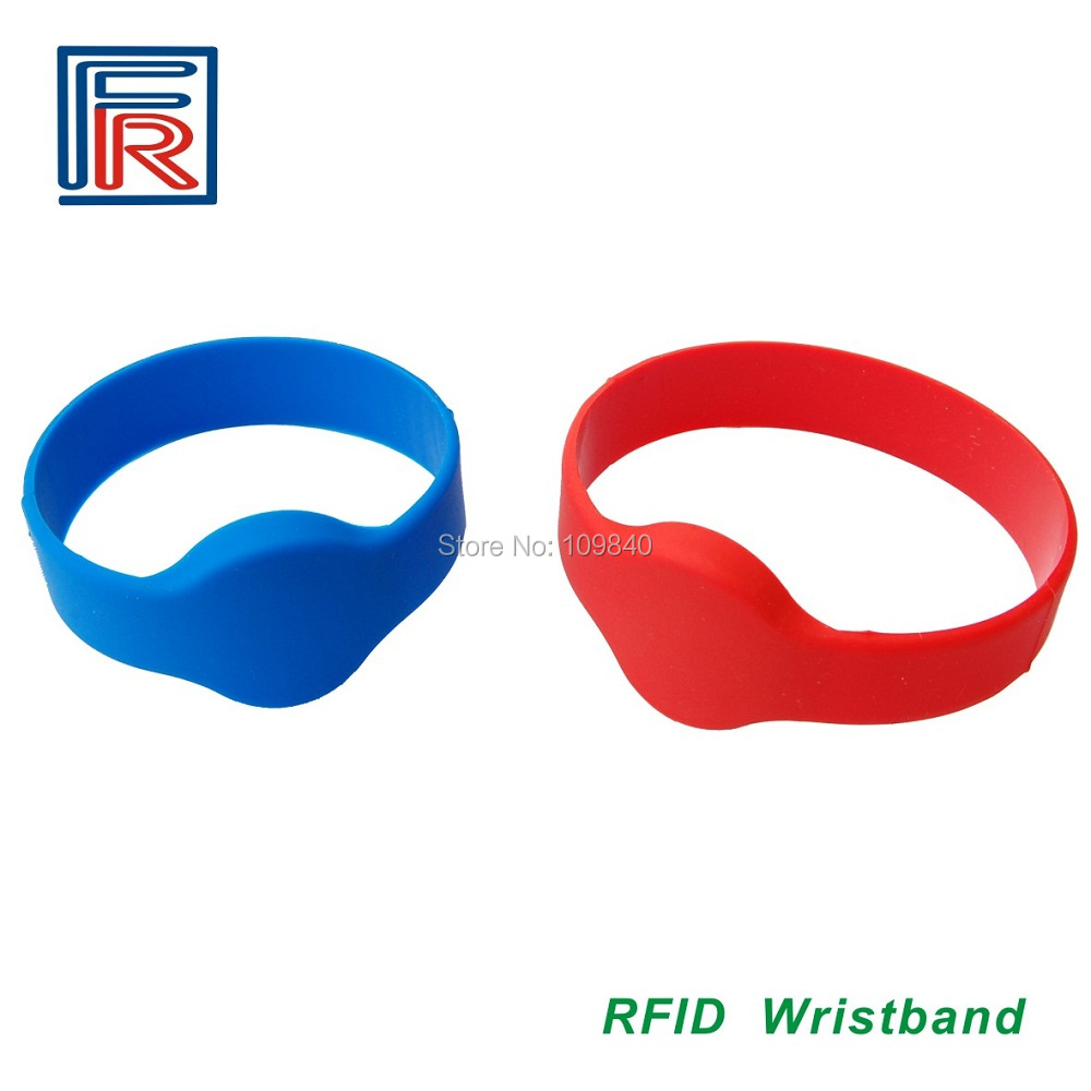 Hot sell anti-high tempreture silicon passive rfid wristband , nfc waterproof bracelet  200pcs/lot