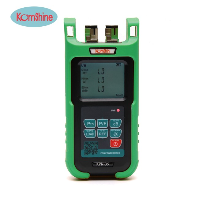 Komshine KPN-35 PON Fiber Optical Power Meter with Back Clip OPM PON GPON EPON 1310/1490/1550nm