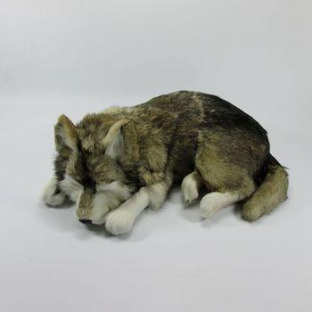 Simulation gray dog polyethylene&furs dog model funny gift about 36cmx25cmx14cm
