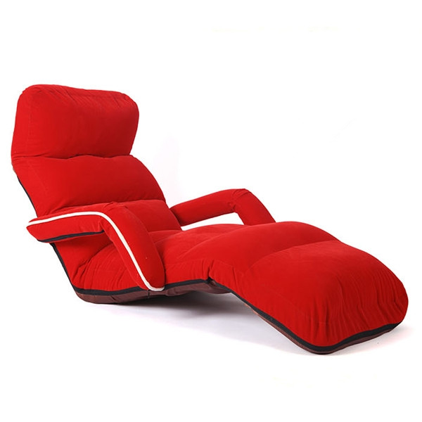 Chaise Lounge Chairs for Bedroom Adjustable Foldable Soft Suede Recliner Chair 6...