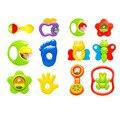 6 pcs de Plástico Brinquedos Do Bebê Mão Jingle Agitando Sino Chocalho do bebê Brinquedo Da Música Da Criança para As Crianças