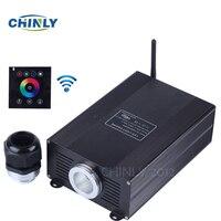 Волоконно оптический светодиодный свет двигателя 45 Вт RGBW с Мощность plug and Беспроводной Wall сенсорный контроллер 2.4 г для дома украшения ночны