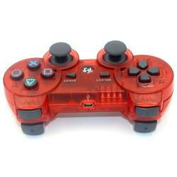 JIELI Беспроводной Bluetooth прозрачный Цвет контроллер для sony Игровые приставки Dualshock 3 PS3 контроллер вибрации геймпад