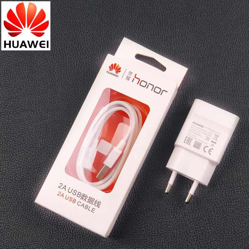 Original 5V/2A Huawei honor 8X Charger EU Power Adapter Micro Usb Cable For  P10 P9 P8 Lite Honor 7x 6 6a 6x 6c 5c 7 Mate 8 7