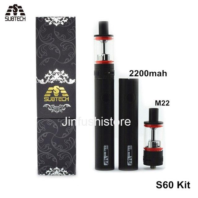 Новые Суб два S60 комплект Электронных Сигарет 60 Вт 2200 мАч Батареи 2.5 МЛ M22 Распылитель Жидкостью Vape Пера SUBTECH S60 сигареты электронный Комплект
