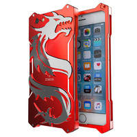 For Apple IPhone 6 Case Dragon Aluminum Metal Phone Armor Shockproof Frame For Apple IPhone 6S