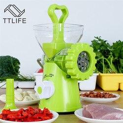 TTLIFE DIY Handmade maszynka do mielenia mięsa domowego maszyna do kiełbasek instrukcja mieszać pieprz orzechowe czosnek Mincer narzędzia kuchenne