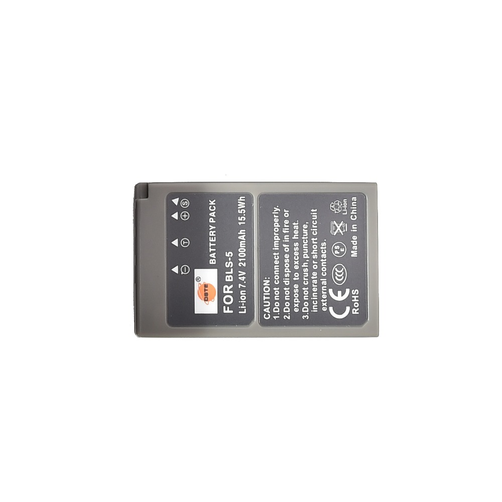 DSTE PS-BLS5 BLS-5 Rechargeable Battery for Olympus E-420 E-450 E-600 E-620 E-P1 E-PL1 E-PLE15 E-PM1 E-M10 Camera image