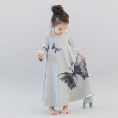 Free shipping,spring autumn clothes children clothing,long sleeve girl,baby dress,cotton,big butterfly,expgoodsion underdress free shipping children s clothing spring autumn girl leisure flower pattern girl suit long sleeve sweatshirt pants set
