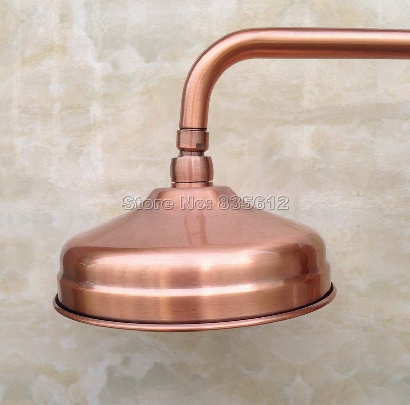 8 inch Rainfall Round Antique Red Copper Bathroom Rain Shower Heads Wsh0548 inch Rainfall Round Antique Red Copper Bathroom Rain Shower Heads Wsh054