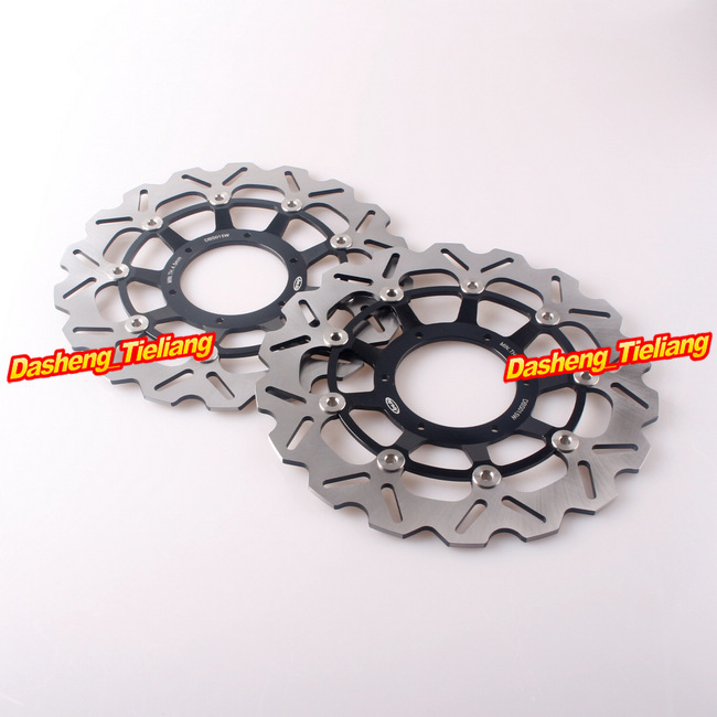 2PCS Front Brake Disc Rotors For Honda 2003 2004 2005 2006 2007 2008 2009 2010 2011 2012 2013 CBR600RR & 2004 2005 CBR1000RR swing arm pivot frame trim covers for honda vtx1300 2003 2004 2005 2006 2007 2008 2009 chrome