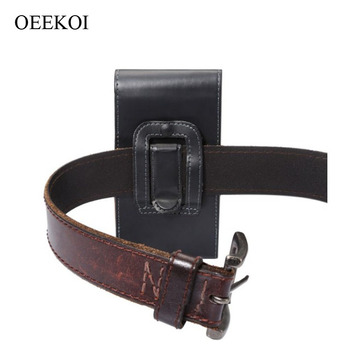OEEKOI Belt Clip PU Leather Waist Holder Flip Cover Pouch Case for Overmax Vertis 2210 Easy 4 Inch Drop Shipping image