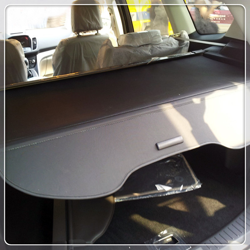 Black Car Rear Trunk Parcel Shelf Cargo Cover For Ford Kuga/Escape 2013 2014 2015 2016 2017 Car styling Auto accessories car styling 26pcs stainless steel full window frame molding trims set with center pillars for ford kuga escape 2013 2014 2015