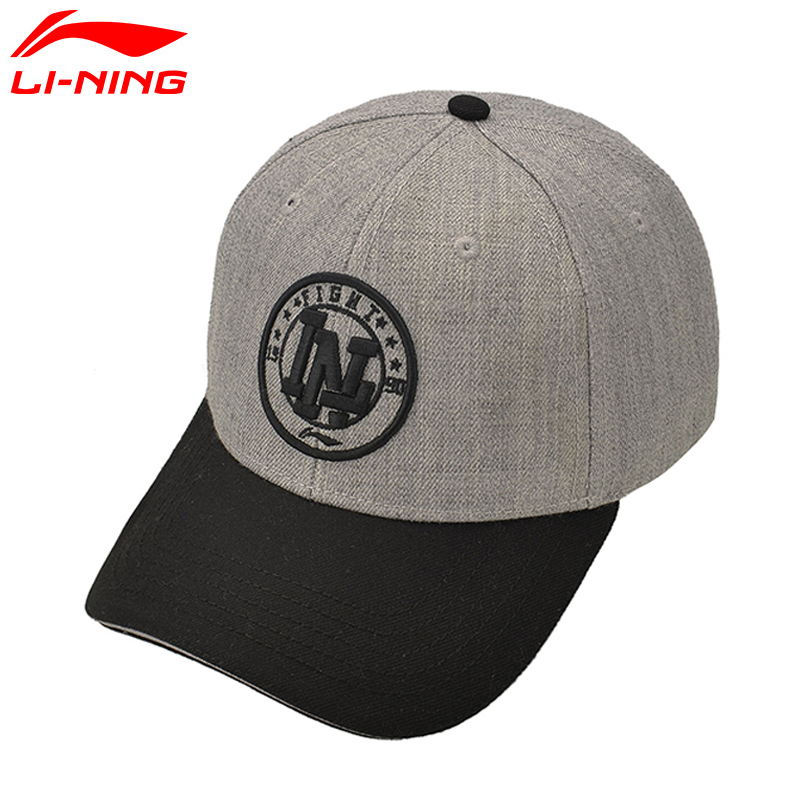 Li-Ning Unisex Running Caps Polyester Solid Baseball Cap Sunshade LiNing Sports Caps AMYM028 EJFM17