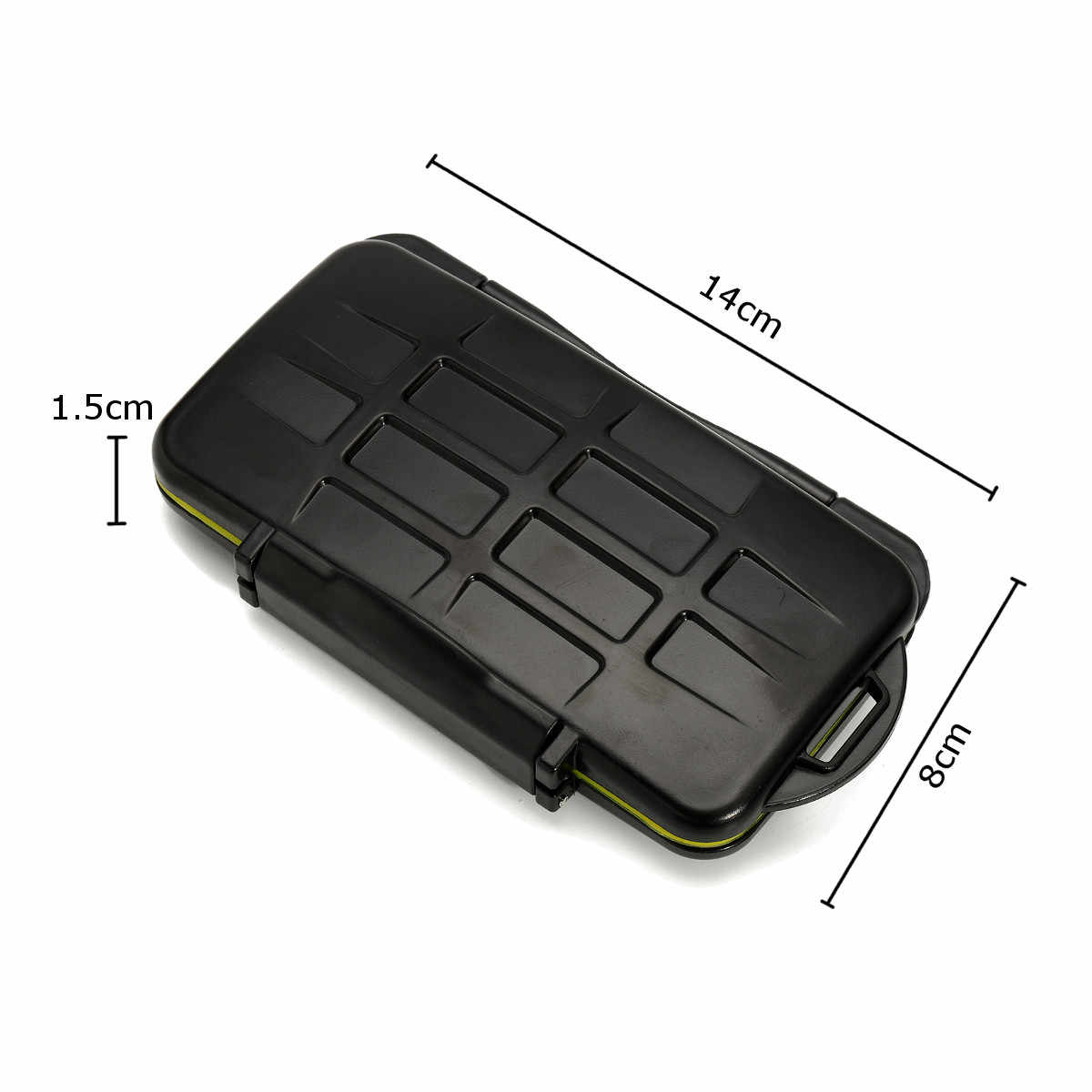 12SD+12TF Waterproof Memory Card Storage Box Holder Memory Card Carrying Pouch Case All In One Anti-Shock Camera Memory Card Bag