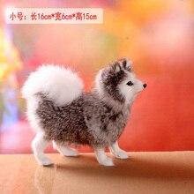 small simulaiton gray Samoyed toy polyethylene&fur cute samoyed model gift about 16x6x15cm