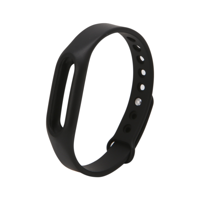 цена ANENG Black Silicone Wrist Band Strap Wristband Replacement Smart Watch Band For Xiaomi Mi Band 1