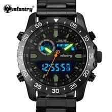 Пехота военные часы Для мужчин светодиодный цифровой кварцевые Для мужчин s часы лучший бренд класса люкс Тактический Армия наручные часы для Для мужчин Relogio Masculino