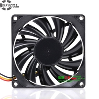 SXDOOL DF0801512RFUN 12 V 0.34A 8 cm 80mm Delgado Ventilador 2000 rpm 8015 chasis/CPU fan