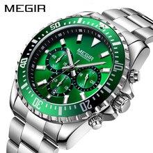 Megir メンズ腕時計トップブランドの高級時計ステンレス鋼ビジネス腕時計時計レロジオ masculino