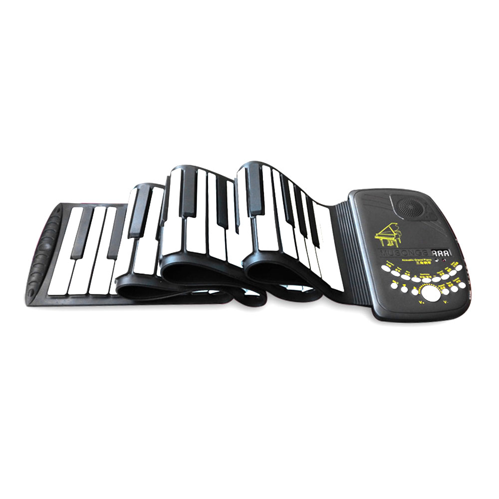 цены на Electronic Organ Flexible 88 Key USB Charging Keyboard Instruments Silicon with Loud Speaker D88K10 Roll Up Piano в интернет-магазинах
