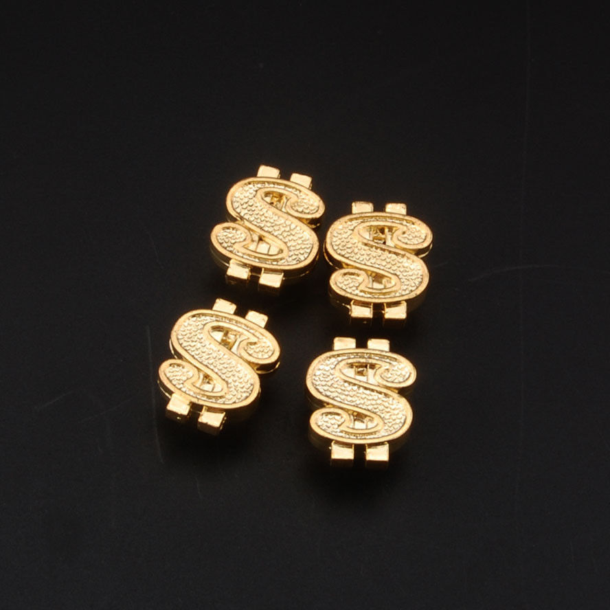 BBQ@FUKA 4x Golden Money Dollar $ Sign Car Wheel Tire tyre Valve Stem Air Dust Caps Covers Fit for bmw audi vw ford lada ect.