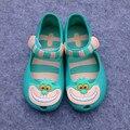 2016 New Aisi Wonderland Cute Girls Sandals Cartoon Hook&Loop Soft Bottom Jelly Fish Head Sandals Mini Melissa Sandals For Girls