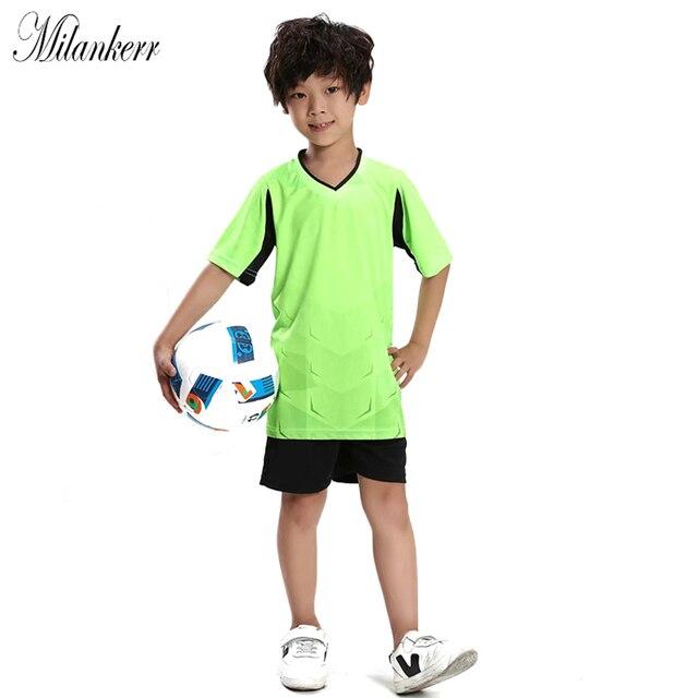 e425e1a553aa5 2018 fútbol chándal para niños competición de fútbol ropa deportiva manga  corta niños fútbol MaillotDe Foo
