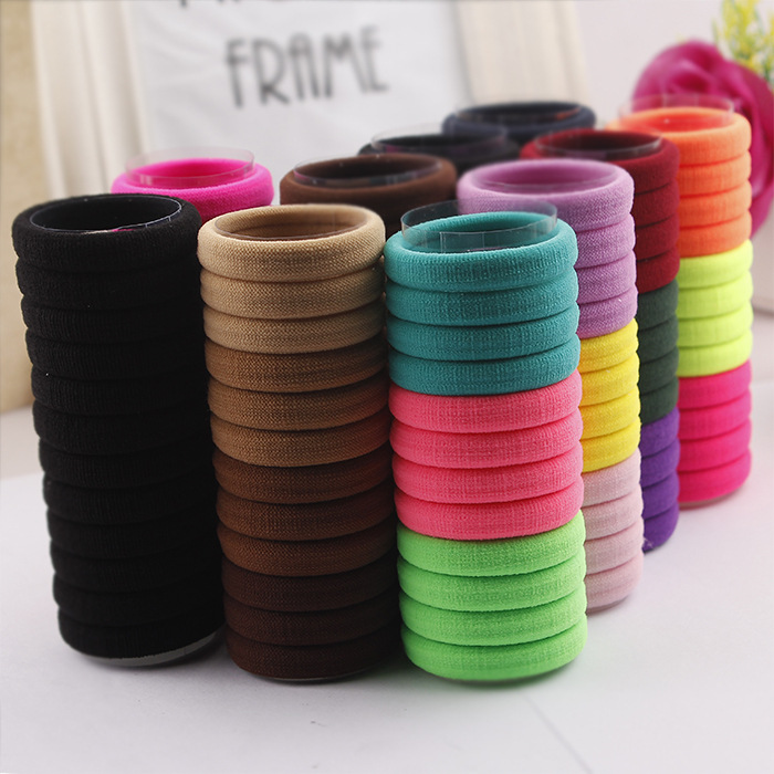24 PCS Candy Colored Hair Holders High Quality Rubber Bands Hair Elastics Accessories Girl Women Tie Gum  Mix Colors TS003 10pcs lot candy fluorescence colored hair holders high quality rubber bands hair elastics accessories girl women tie gum