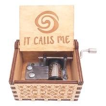 Moana Music Box Hand Crank Musical Box Carved Wooden Musical Box for Girl Christmas Music Gift ,Play Moana Theme How Far I'll Go все цены