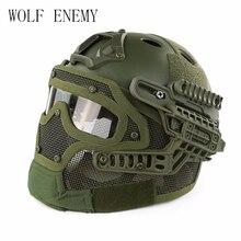 Тактический Шлем BJ PJ MH ABS маска с очками для военных страйкбол армии Пейнтбол WarGame Мотоцикл Велоспорт охота