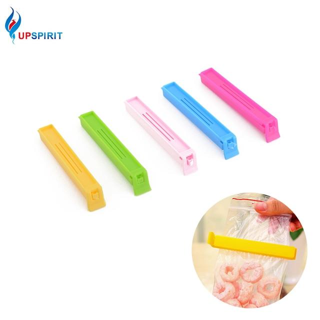 Upspirit 5Pcs/lot Large Colorful Food Snack Bag Storage Sealing Clips Seal Clamp Plastic Bags Ziplock Clip Home Food Storage