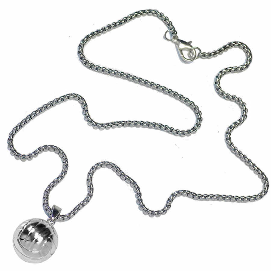 OTOKY 2018 Hot Sale 1PC Volleyball Necklace Stainless Steel Chain Necklace Sport Hip Hop Jewelry For Gift   Mar27