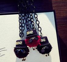 Funny Cute Mr. With Hat Fashion Jewelry Women's New Sweater Long Cartoon Pendant Necklace Gift for Girls N915281