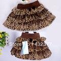 2016 Детей Малышей Девушки Черный Белый Кофе Leopard Тюль Туту Танцев Юбки 3T ~ 8 питания оптом