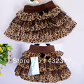 2016 Kids Toddlers Girls Black White Coffee Leopard Tulle Tutu Dance Skirts 3T~8 supply wholesale
