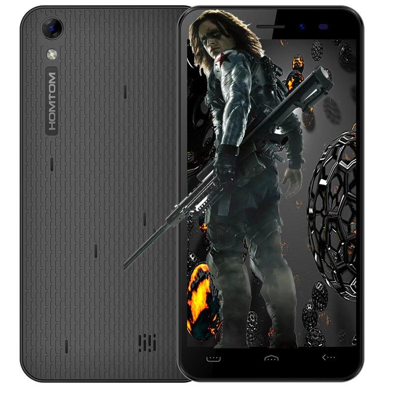 Original Homtom MTK6580 HT16 5.0 polegada Smartphone Android 6.0 Quad Core 1.3 GHz 1 GB + 8 GB 3G smartphones 8MP Câmera Do Telefone Móvel