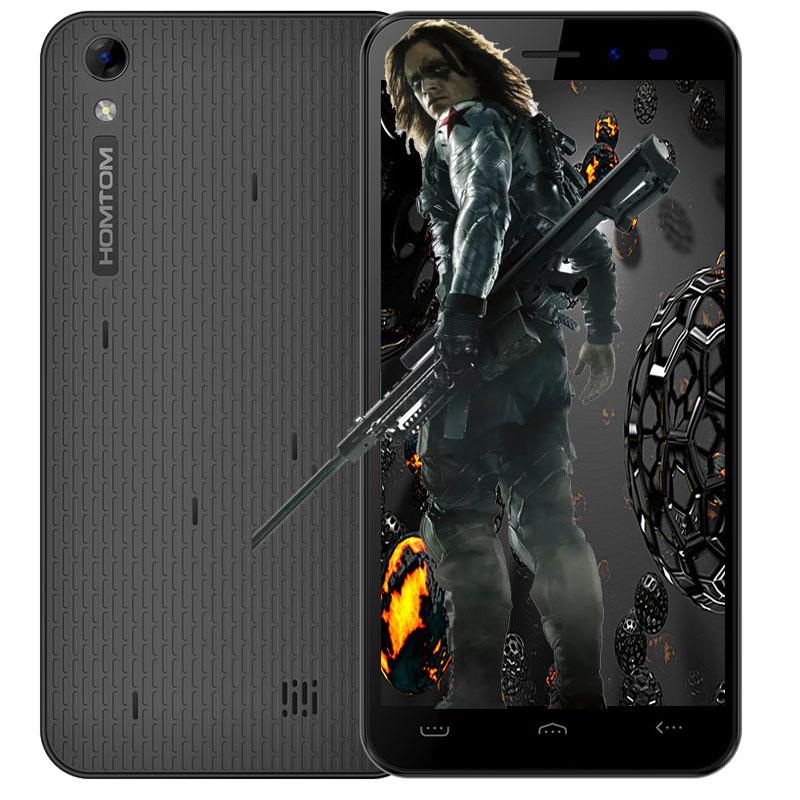 Original Homtom HT16 5.0 pulgadas Smartphone Android 6.0 MTK6580 Quad A Core 1.3 GHz 1 GB + 8 GB 3G Smartphone 8MP Cámara Móvil teléfono