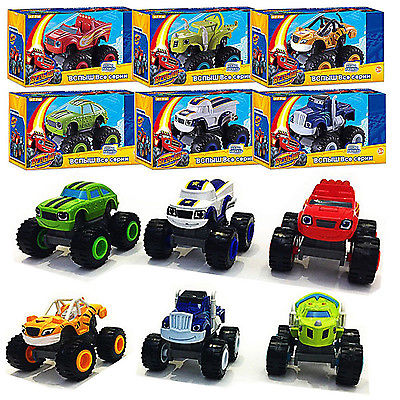 2Y Or Older Children's Toy Car and Monster Machines Super Stunts Blaze Kids Truck Car Coll Gift For Child At Birthday Christmas
