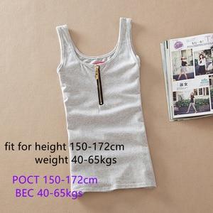Image 5 - Hàng Mới Về Thời Trang Mùa Hè Khoác Cotton Vest Không Tay Xe Tăng Cao Cấp Áo Kẹo Màu Cơ Bản Vụ Áo Ngực Hàng Đầu phụ Nữ