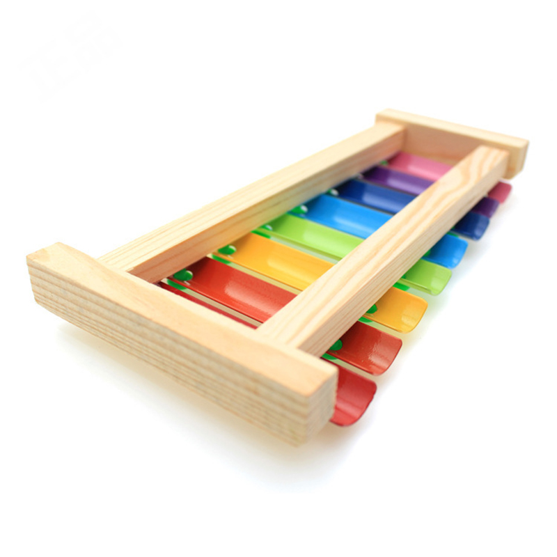 Wooden Xylophone Musical Instrument 8 Tones Toys Multicolor For Children Kids Baby &T8