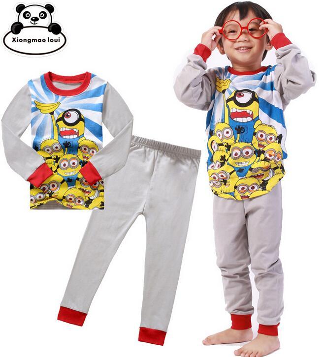 el precio más bajo precio especial para ahorrar Minions Pijamas niños para niños Pijamas Set Cartoon Tops + ...