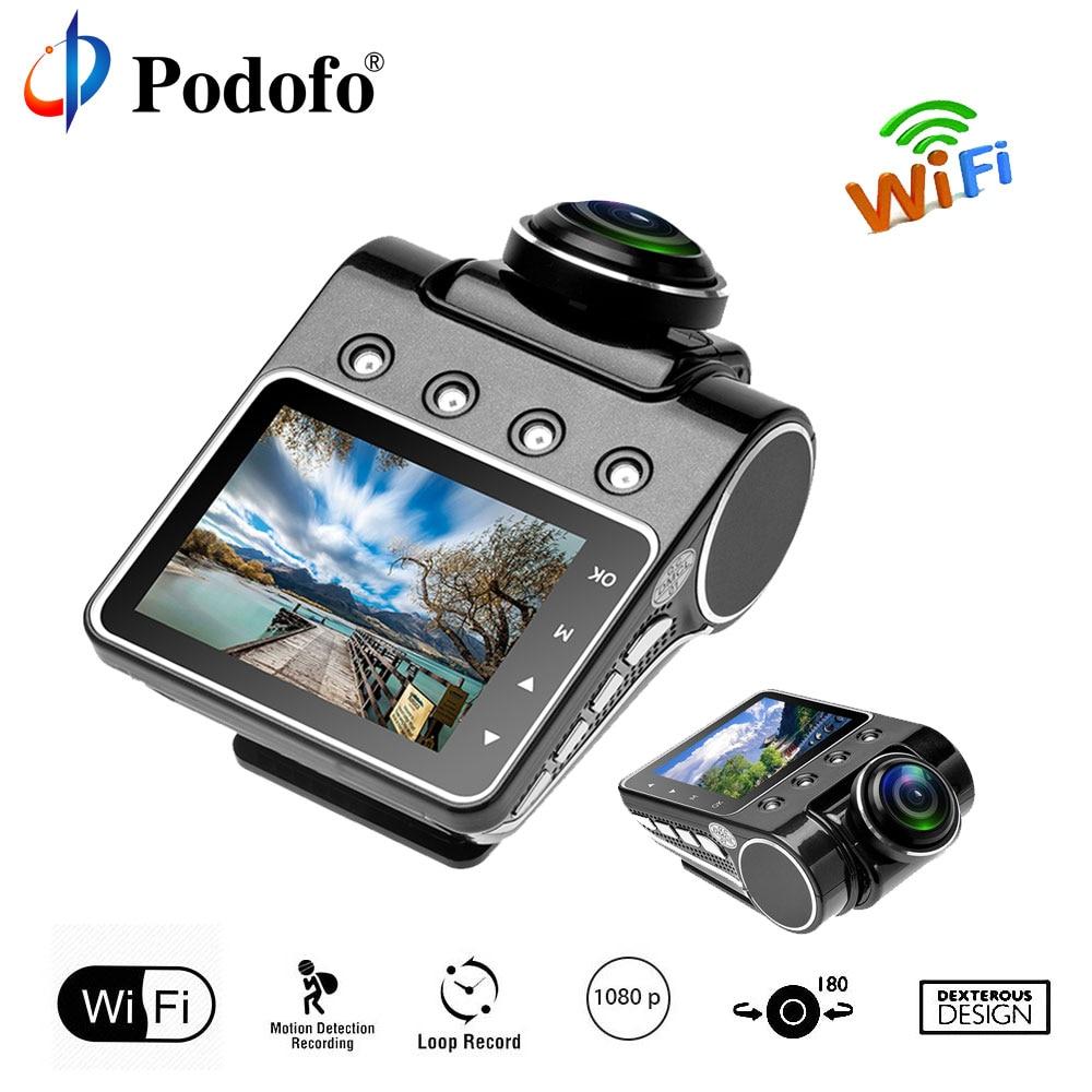 Podofo Car DVR Camera Dashcam IPS Super TFT Screen Full HD 1080P Video Registrator Recorder 220 Degree Rotary Lens WIFI G-sensor blackview bl500 2 7 tft full hd 1080p 5 0mp cmos car dvr w gps ir 178 angle lens g sensor