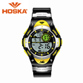 Marca HOSKA relojes LED digital del deporte de las mujeres mujeres del reloj impermeable digital de pantalla del reloj relogio masculino h013-v