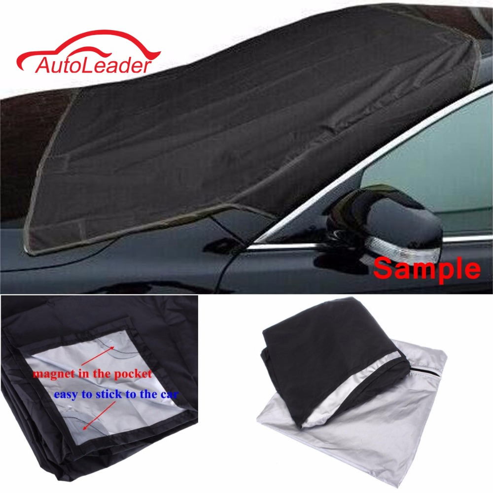Car SUV Magnet Windshield Cover Sun Shield Snow Ice Frost Freeze Protector Black Silver For VW BMW Honda Toyota