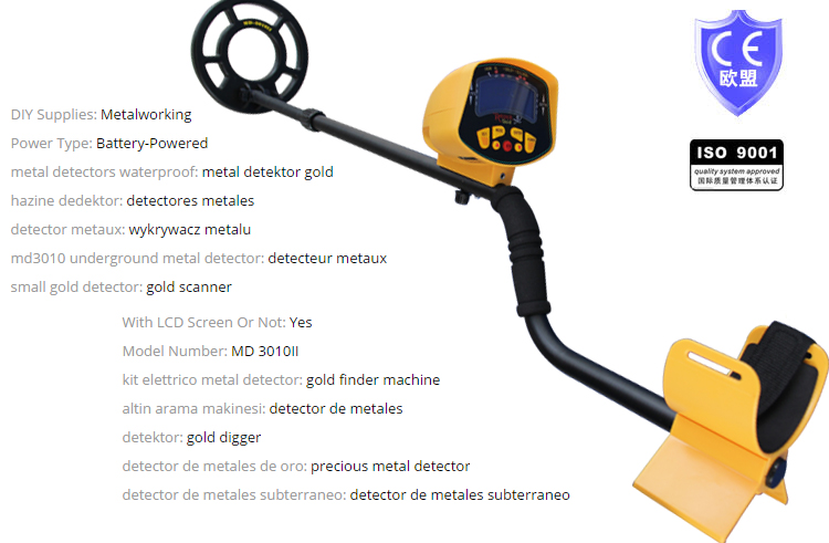 Free shipping MD3010II Metal Detector Underground with LCD Display Gold Metal Detector Treasure Hunter md 3010ii lcd back light display underground metal detector treasure hunter hobby upgraded metal detectors md3010ii