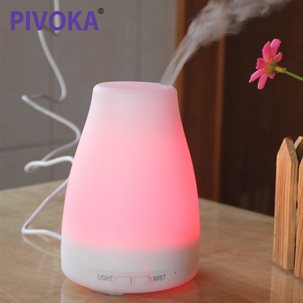 PIVOKA Air Humidifier Cool LED Night Light And Aromatic Essential Oil Diffuser Ultrasonic Silent Ultra Cold Aroma Aromatherapy