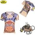 \ Línea Walker \ moda T-shirt OW cosplay TOA ROADHOG Cuide Hombres Camiseta ropa de secado rápido de la Camiseta D. Va de Compresión camisa