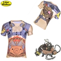 \Line Walker\ fashion T-shirt OW cosplay  TOA ROADHOG  Watch Over Men Tee Quick-dry clothes T Shirt D.Va Compression shirt